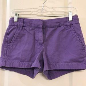 J. Crew Purple Chino Shorts